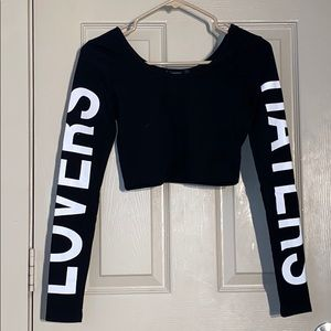 "Forever 21 "" Lovers&Haters"" Croptop"